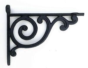 Cast Iron Ornate Shelf Bracket 25cm x19.5cm in 3 colours very strong