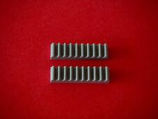 Lego 2 crémaillères gris clair Neuves Light bluish Gray Gear racks NEW REF 3743