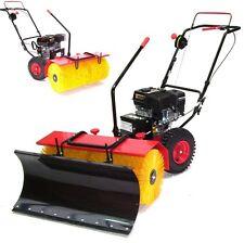 55737 Kehrmaschine 800mm Motorbesen 80 cm + Schneeschild Schneeschieber