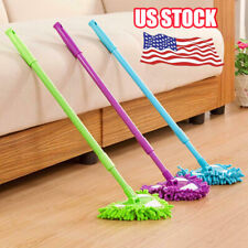 Adjustable 180 Degree Rotatable Triangle Lazy Cleaning Mop US