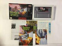 Thunder Spirits Super Nintendo SNES CIB 100% Complete Nr Mint