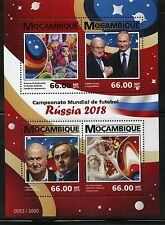 MOZAMBIQUE 2015 WORLD CUP SOCCER RUSSIA 2018 PUTIN  SHEET MINT NEVER HINGED