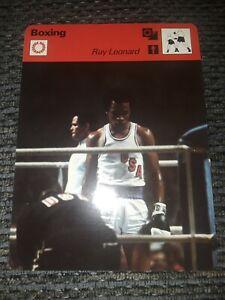 1977-79 Sportscaster Boxing 1976 Olympics Sugar Ray Leonard 22-09 Lausanne A