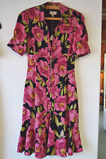 Karen Millen tropical silk dress UK 8