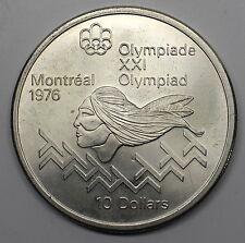 1975 CANADA $10 MEN'S HURDLES MONTREAL OLYMPICS COMMEMORATIVE SILVER COIN DW