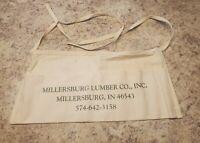 Vintage Millersburg Lumber Co. Advertising NAIL Apron  Millersburg INDIANA