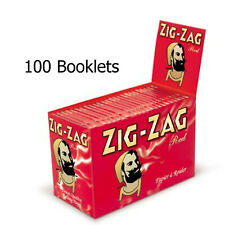 17 Booklets of 100 Zig Zag Red Regular Smoking Genuine Cigarette Rolling Papers