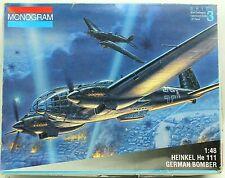 Heinkel He 111 German Bomber Monogram Military Aircraft Model Kit 1994 1:48