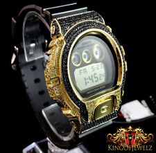14k Yellow Gold Finish Black Yellow G-Shock Digital Mens Watch Joe Rodeo Jojino