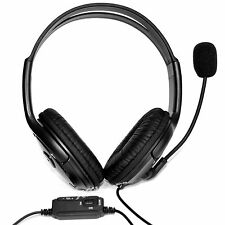 Headset OverHead Headphones with Mic for Live Chat Sony PlayStation 4 PS4, 3.5mm