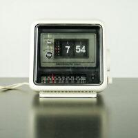 Klappzahlen Radio Wecker Tisch Uhr Vintage Universum W2740 Flip Clock