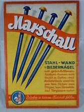Werbeplakat, Pappschild, Marschall - Stahl-Wand u. Bildernägel