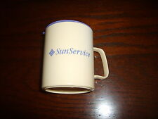 SunService Hot Coffee/Tea/Cocoa Mug w/Sipping Top/Lid~Plastic~PrecisionCraft