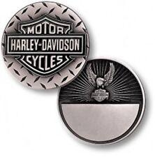 Harley Davidson Diamond Plate / Eagle ~1.75oz Silver Proof Challenge Coin