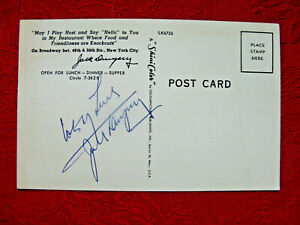 Original Boxing Great Jack Dempsey Autographed Postcard - NICE!