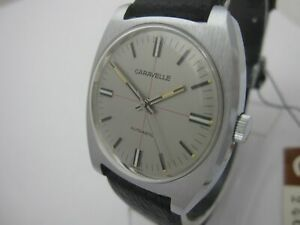 NOS NEW SWISS MADE VINTAGE AUTOMATIC BIG CARAVELLE BY BULOVA ANALOG WATCH 1960'S