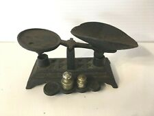 ANTIQUE Cast Iron Kitchen Counter Balance Scale Vintage Collectable History