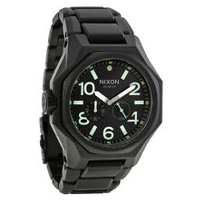 Nixon The Tangent Matte Black / Surplus Black Dial Black Ion-plated Watch
