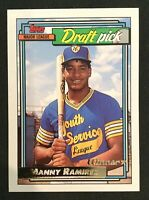 MANNY RAMIREZ Rookie Card RC - 1992 Topps GOLD WINNER Parallel - #156