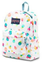 NWT JANSPORT Superbreak Pink Pansy Confetti Dot Backpack School Student Book Bag