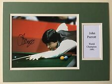 "Snooker John Parrott Signed 16"" X 12"" Double Mounted Display"