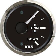 KUS Boat Trim Gauge Marine Trim Tilt Indicator for Outboard Engine 52mm 12/24V