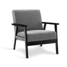 Artiss UPHO-C-SOFA-8033-GY Fabric Dining Armchair - Grey