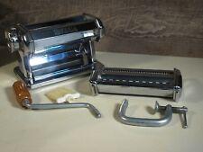 Vintage Chrome Imperia Pasta Maker SP 150 with Attachments Excellent