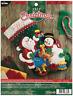 Bucilla 'Santa and Snowman' Felt Christmas Stocking Stitchery Kit, 86658