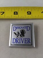Vintage DESIGNATED DRIVER Button Pin Pinback *QQ24