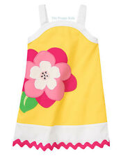 NWT Gymboree Girls ISLAND LILY Flower Diamond Pique Dress 10
