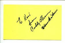 Cubby O'Brien Mickey Mouse Club Mouseketeer Signed Autograph