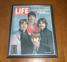 1967 BEATLES LIFE MAGAZINE FRAMED COLOR PRINT