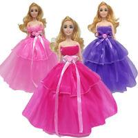 Handmade Dress Skirt Wedding Party Mini Fashion Clothes For Barbie Doll Cute