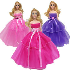 Handmade Dress Wedding Party Mini Gown Fashion Clothes For Barbie Doll Random