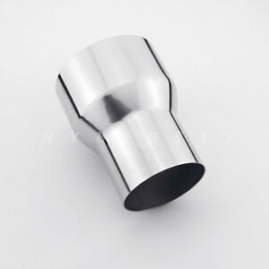 """3"""" 76mm ID to 4"""" 102mm OD Exhaust Pipe Adapter Reducer 304 Stainless Steel"""