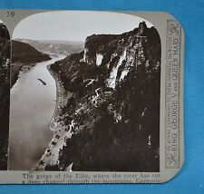 Stereoview Photo Germany Gorge Of The Elbe Channel Through Mountains Realistic