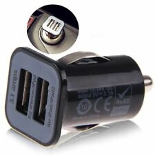 Universal Black Dual Double USB Car Charger Cigarette Lighter For IPhone IPad Sa