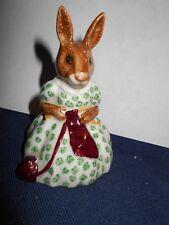 "Royal Doulton Bunnykins ""Busy Needles""  Bunnykins Figurine DB-10"