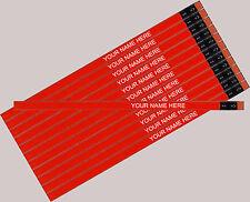 12 pkg - Neon Orange Personalized Hexagon Pencils - ** FREE PERZONALIZATION**