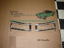 Tail Lamp Light Bezels 68 Chevelle **In Stock** Malibu