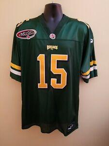 Edmonton Eskimos Nealon GREENE Puma CFL Football Jersey Used Size L Clemson