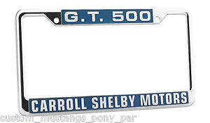 Mustang Number Plate Licence Frame USA Size Shelby GT500 1969 1970 428 Cobra Jet