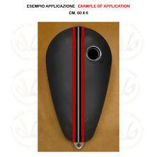 Adesivo serbatoio fascia 5 linee pvc red black silver sticker moto tank 1 pz.