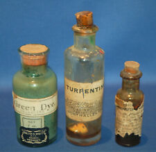 More details for three small antique glass bottles, artist's materials, painting
