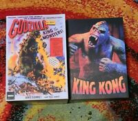 NECA ULTIMATE GODZILLA KING OF THE MONSTERS 65TH AND KING KONG ILLUSTRATED