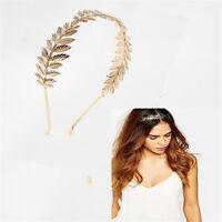 Newly Bridal Wedding Leaf Tiara Crown Hair Band Headband Golden Silver