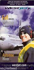 Airline Timetable - WestJet - 26/10/03  (Canada)