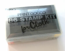 Print Gocco B6 Stamp Kit for Cloth with 4 Ink Tube RISO Clothing Screen Printing