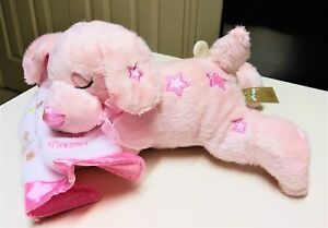First & Main Pink Puppy Plush Sweet Dreams Musical Wind Up Nursery Baby